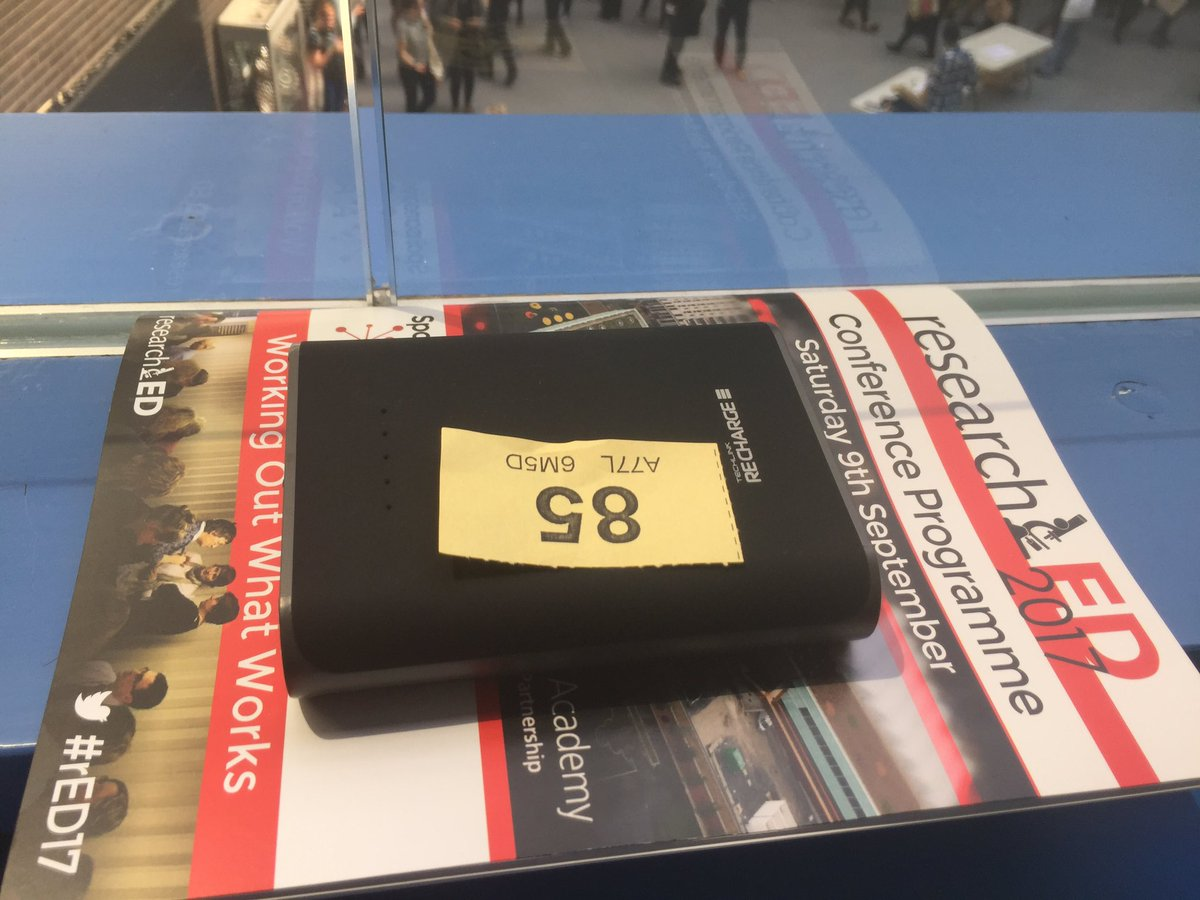 #rED17 essentials - programme, lunch ticket, backup power supply. https://t.co/AKevqofFjt