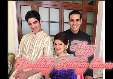 Happy smiling birthday Akshay kumar with family