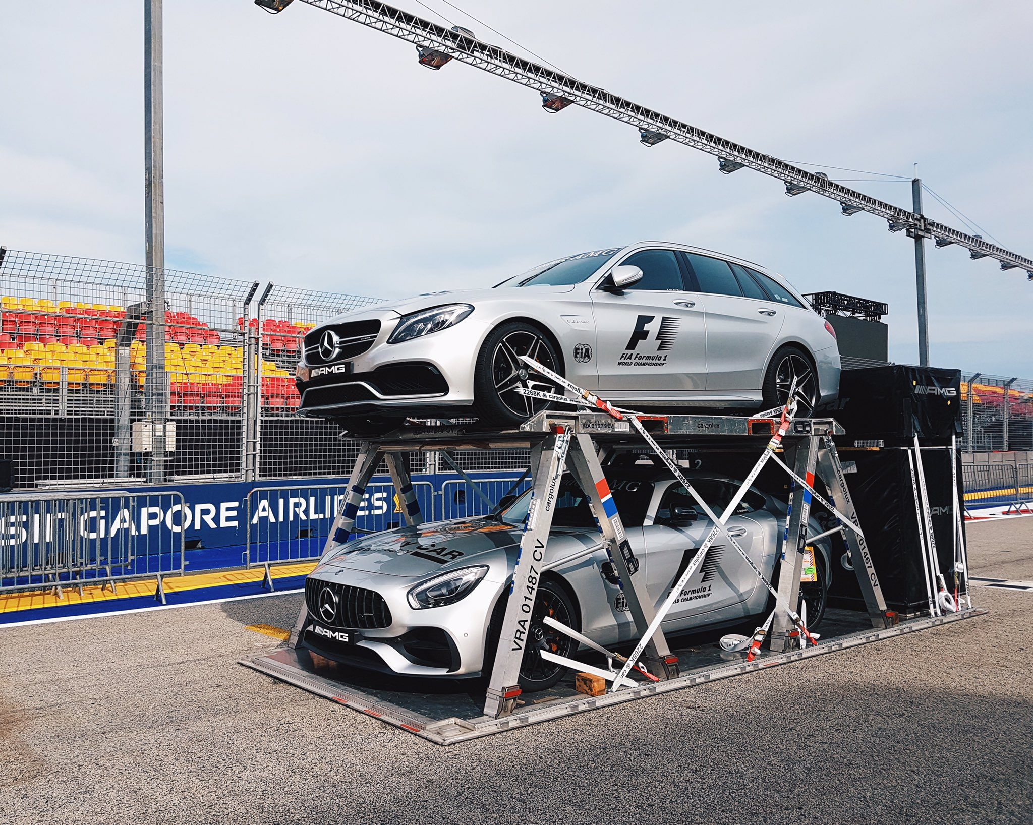#F1 safety and medical cars are in for the #SingaporeGP next week! #F1nightrace https://t.co/lY1H20RPgW