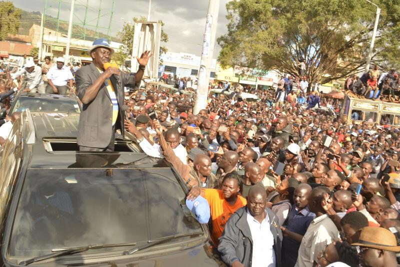 NASA leader Raila Odinga's South Rift campaign left in limbo