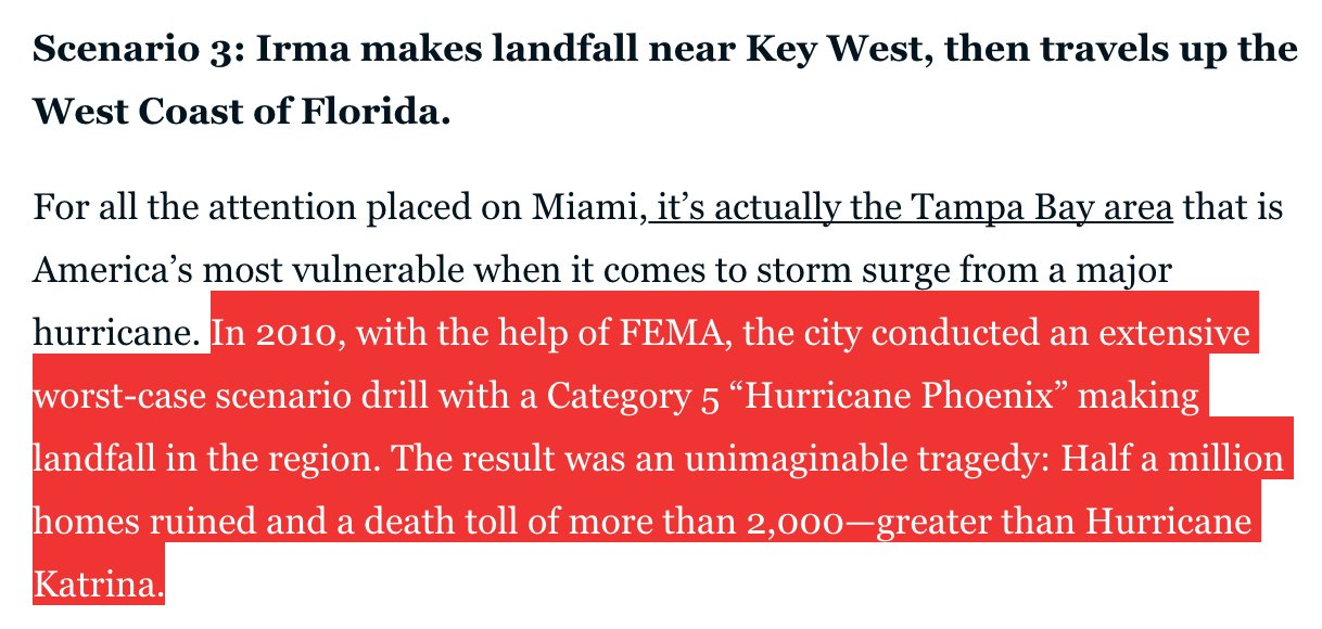Hurricane Irma's westward lean could spare Miami — but sink Tampa. https://t.co/K2ATCIiw2f https://t.co/f5CgXI5oAM