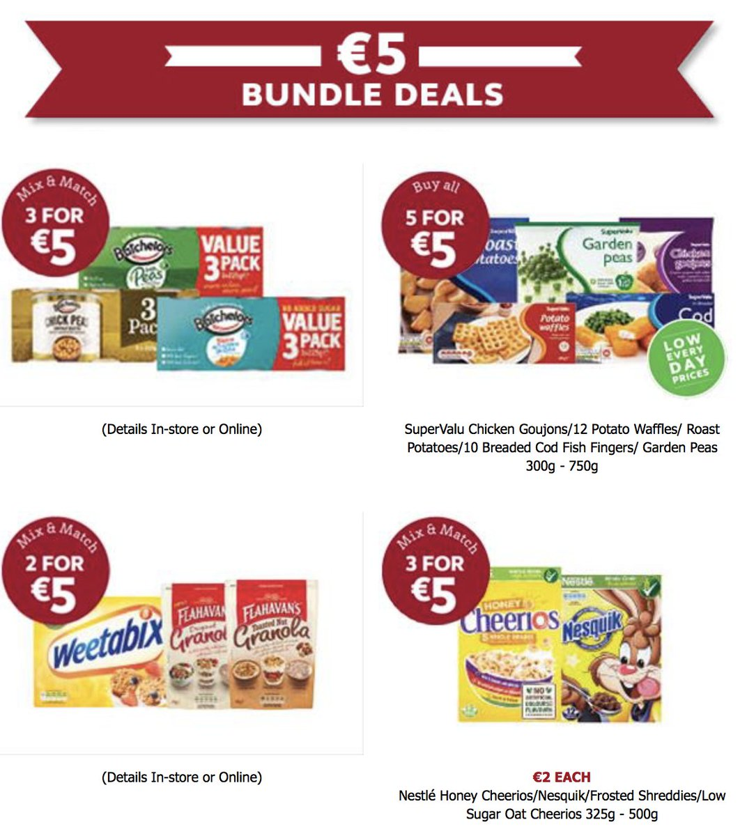 Our new €5 bundle deals are now on.... https://t.co/6sK0AJePsV