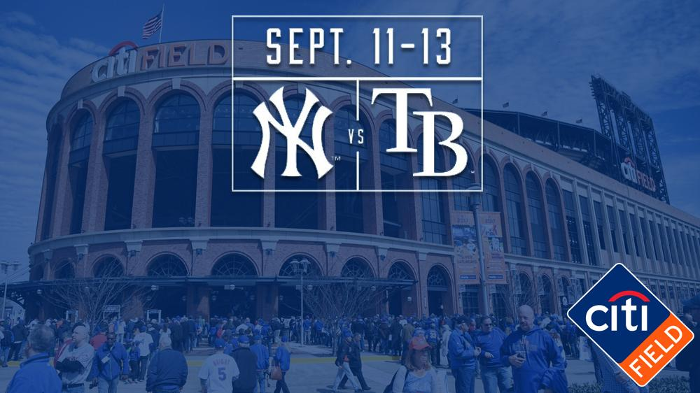 Tickets are on sale now for the @RaysBaseball games here at @CitiField September 11-13 ➡️ https://t.co/lNqW3vEPEc https://t.co/AO5Kihsw2X