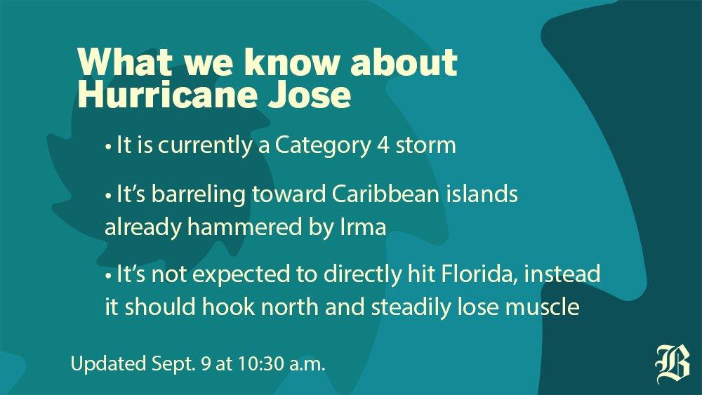 Hurricane Jose threatens second blow to Irma-ravaged islands