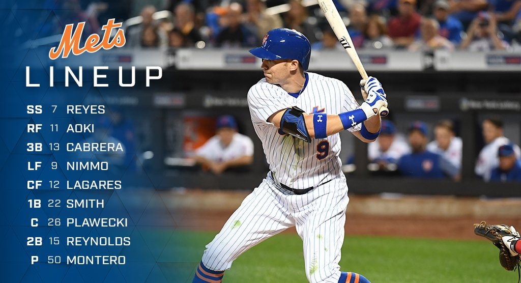 Here is today's lineup. #Mets https://t.co/kcdv5zs6lM