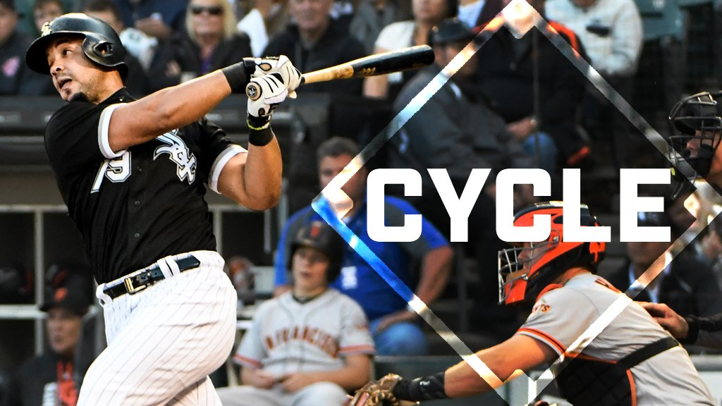 Unbelievable! Jose Abreu TRIPLES to complete the 7th #cycle of 2017. https://t.co/Fj9tMLJQED https://t.co/uGZFouXNlw