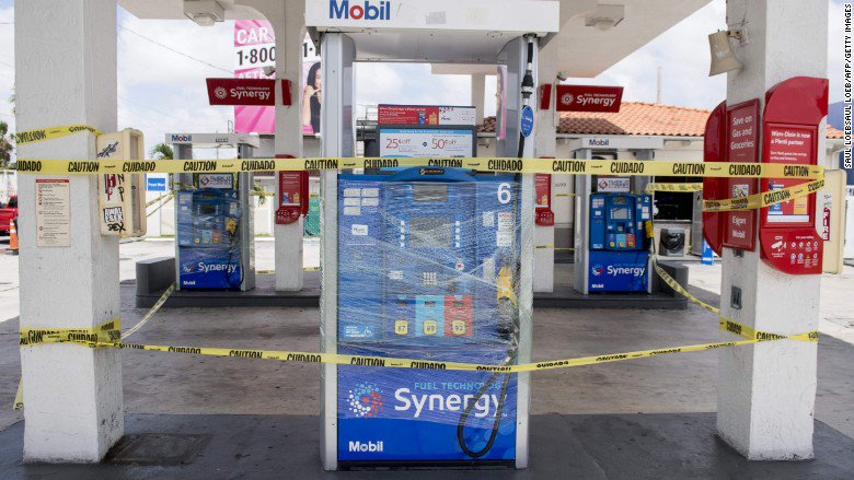 Nearly 65% of Florida stations are out of gas in some areas as Hurricane Irma nears