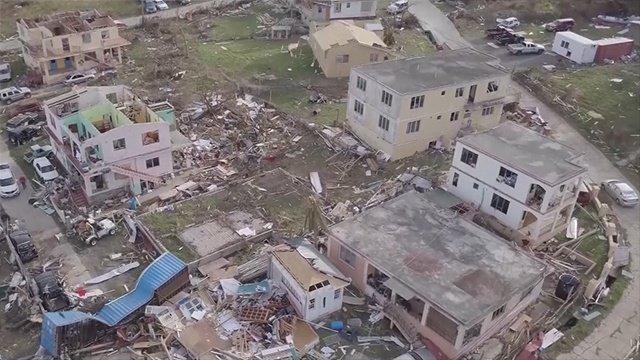 Drone video shows Hurricane Irma damage in British Virgin Islands