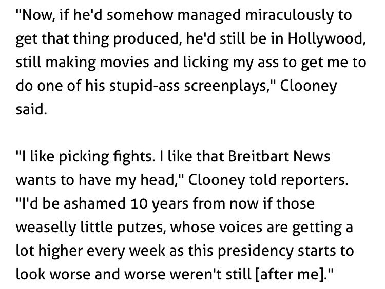 George Clooney on Steve Bannon and Breitbart https://t.co/UD29lPemcI https://t.co/Vu0GB3Fadv