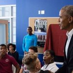 Barack Obama crashes high school lesson - and leaves students absolutely speechless