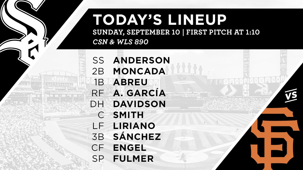 Today's #SoxGameDay starters: https://t.co/t3dxDehTlV