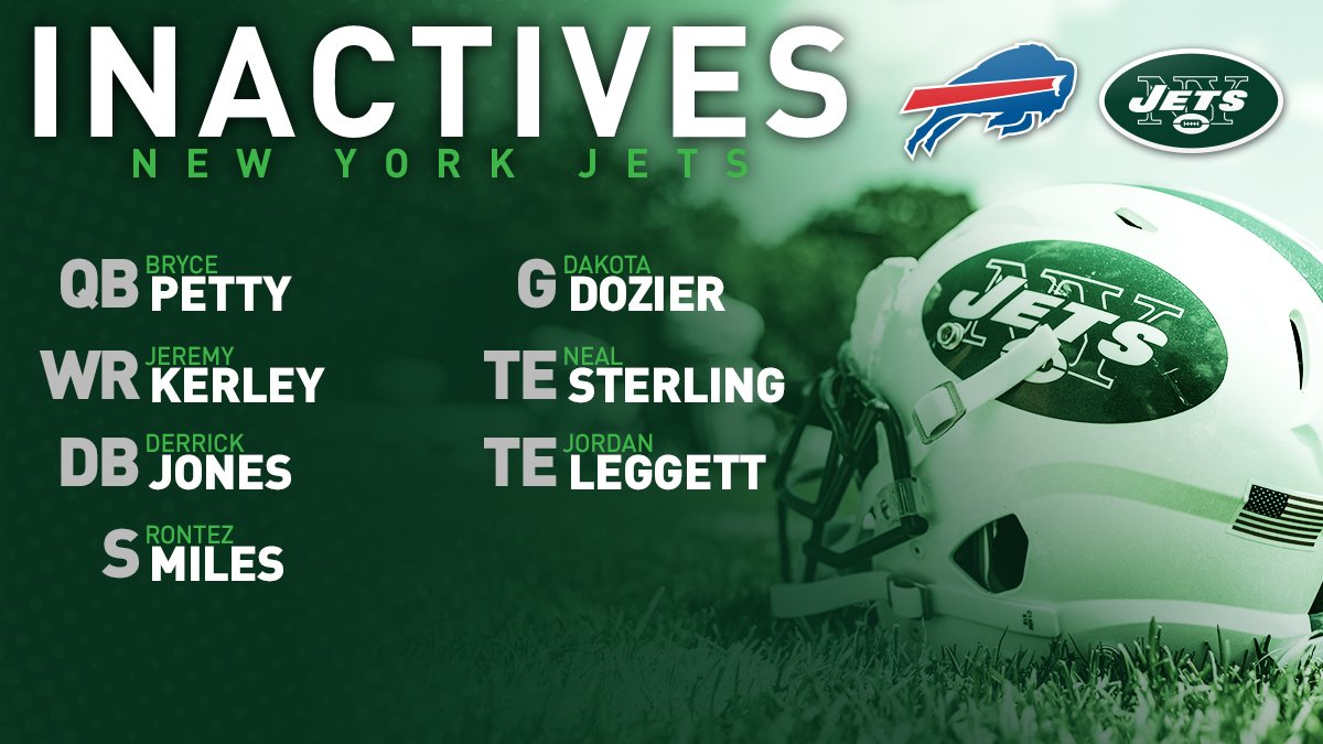 Christian Hackenberg is the backup QB.Complete #Jets inactives for #NYJvsBUF ⬇️