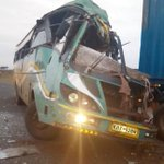 Three killed after bus rams into trailer on Narok-Mai Mahiu road