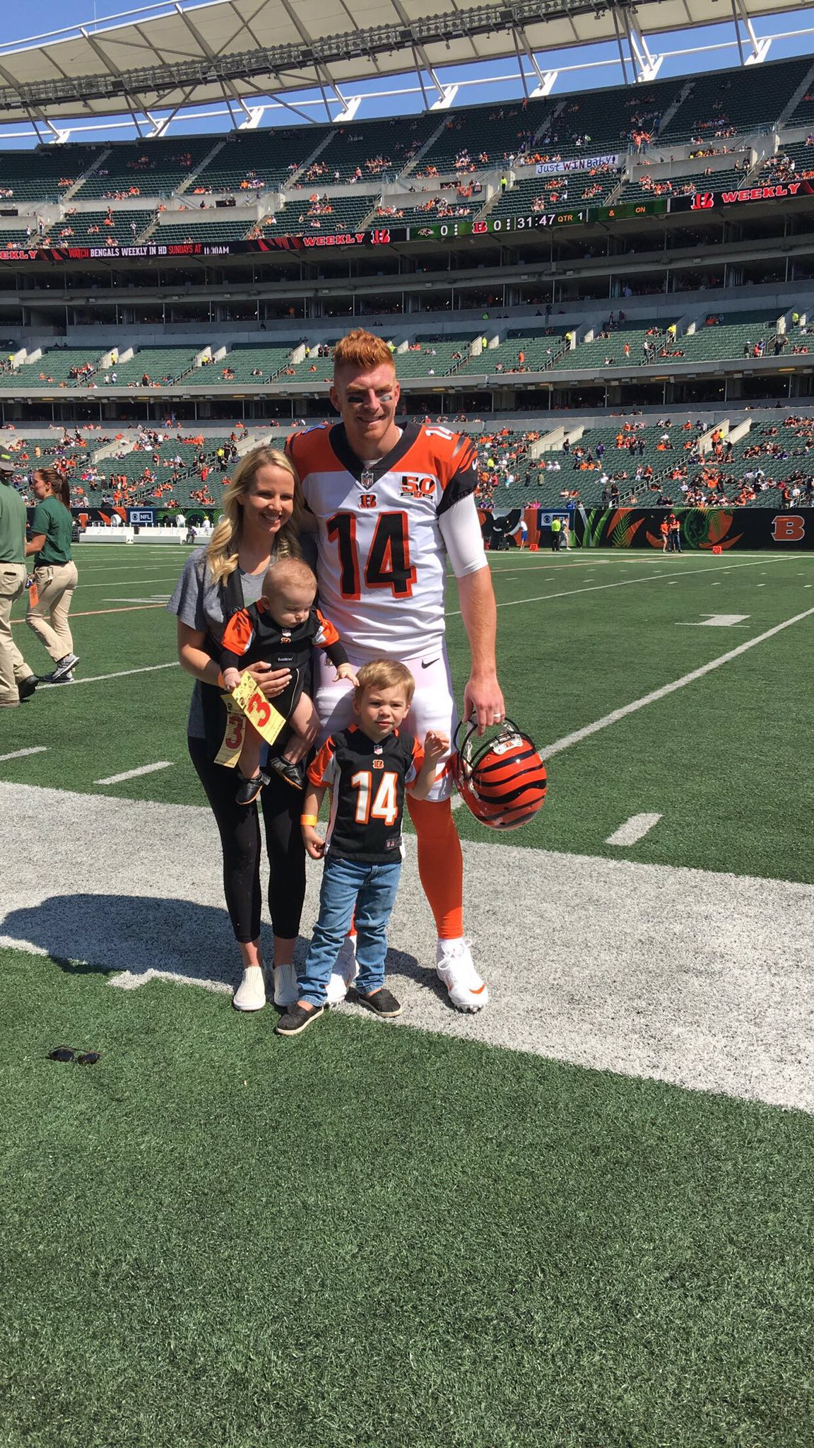 Football is Family @andydalton14 #Bengals50 https://t.co/JxZIfwOgbZ