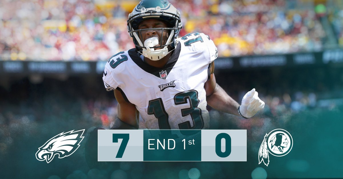 Not a bad start.  #PHIvsWAS | #FlyEaglesFly https://t.co/DVh1Z1zqZk