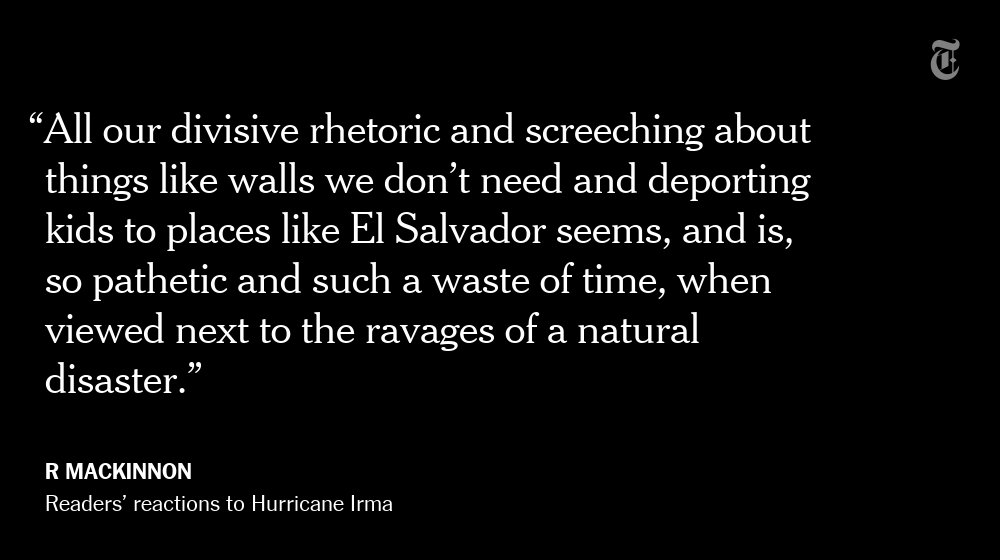 One NYT reader's reaction to Hurricane Irma https://t.co/jN9wKQsN2k https://t.co/NhDXHA0vvS
