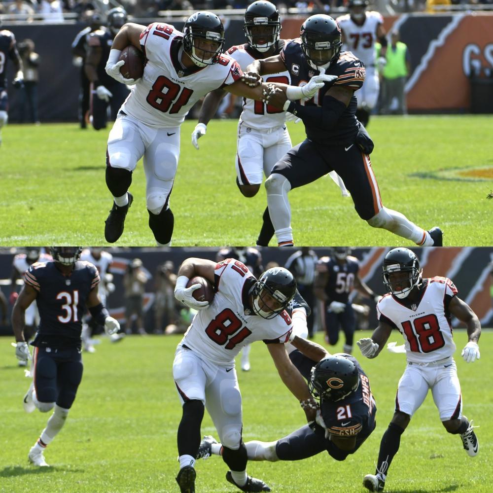 Austin Hooper: - 88-yard TD ✅ - Monster stiff arm ✅ https://t.co/fu2ryrzbSr