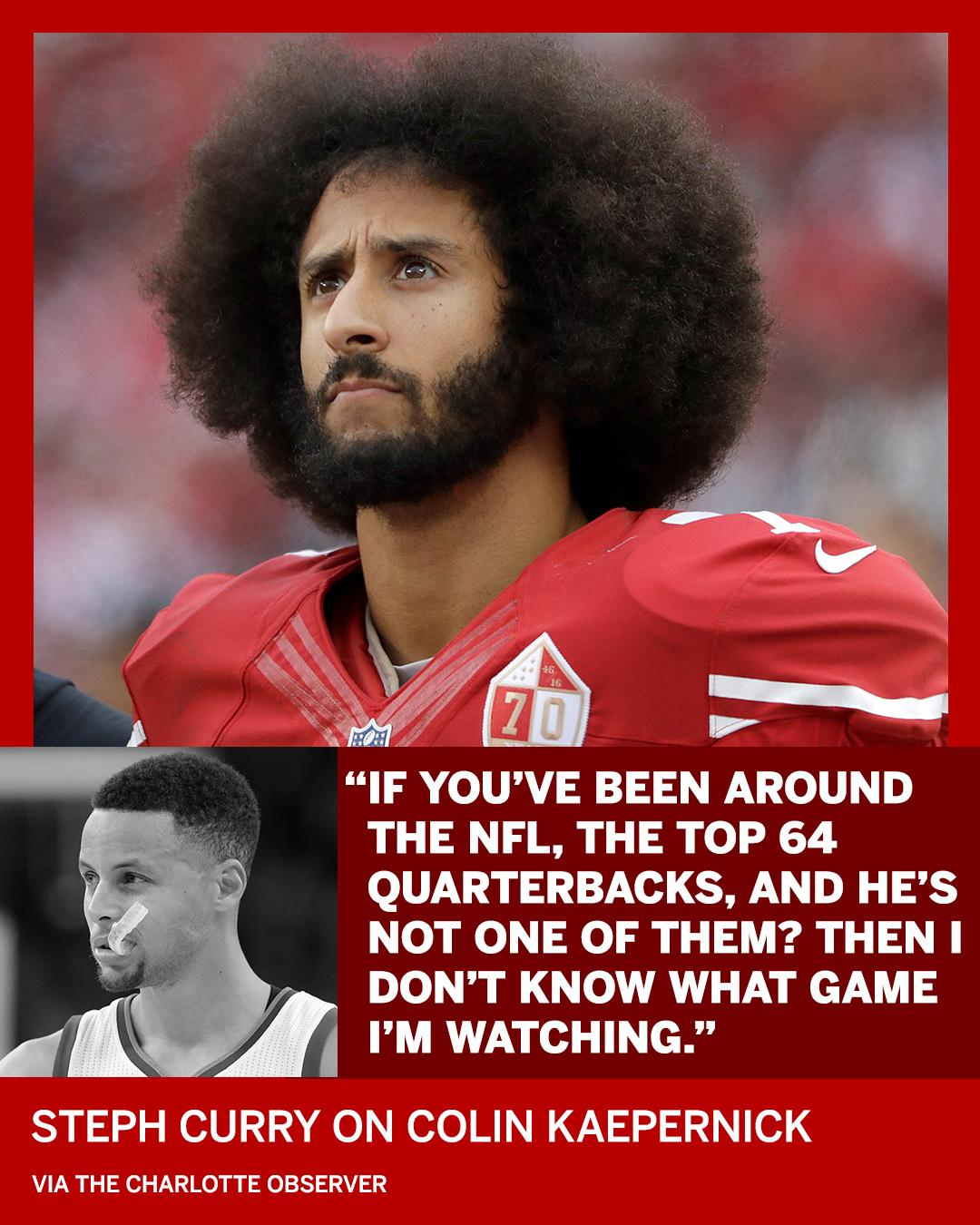 Colin Kaepernick has Steph Curry's support. https://t.co/9UPBgi3cFI