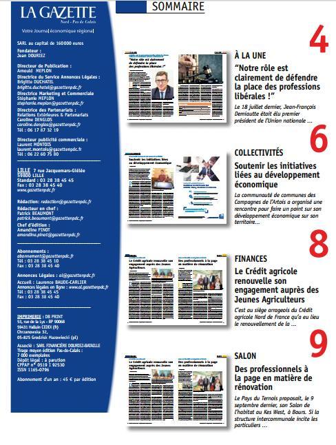 test Twitter Media - Retrouvez l'édition Pas-de-Calais de votre Gazette, en kiosque dès demain! #développement_économique #agriculture https://t.co/Z4zyEgJdX6
