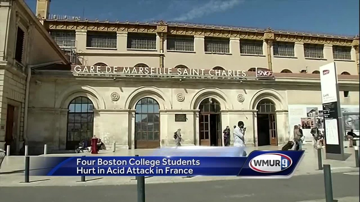 Four Boston College students hurt in acid attack in France