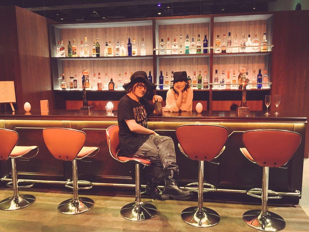 KATSUさんが飲みにきてくれた。#anime_k