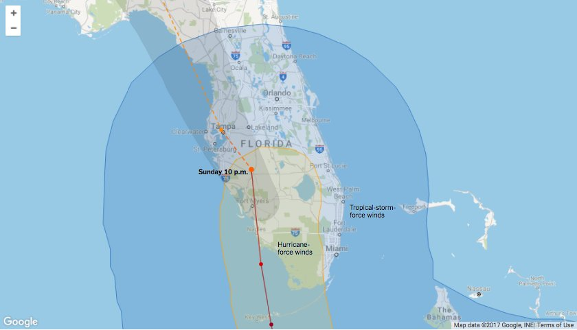 Tracking the path of Hurricane Irma https://t.co/fD4gQYC6JU https://t.co/ijLSUKPURR