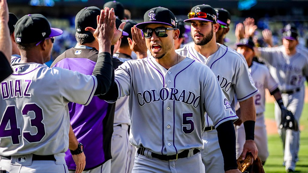 The @Rockies are ridin' high after a four-game sweep in LA. https://t.co/PafXSVodFv https://t.co/mIMXUWCcX7