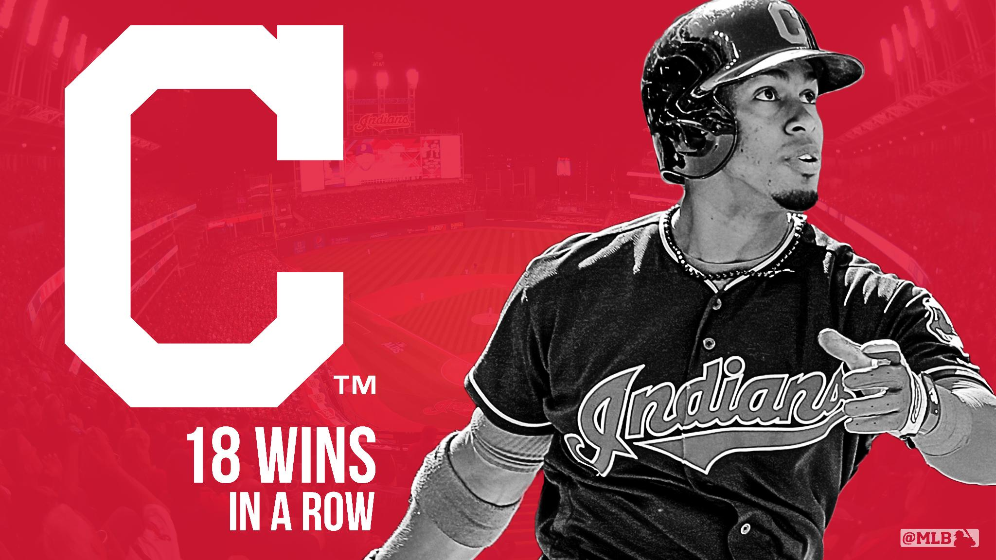 What. A. Run.  EIGHTEEN wins in a row for the @Indians AND NEW best record in the AL. https://t.co/dEGjaX53HS https://t.co/BzOeGdkwEn