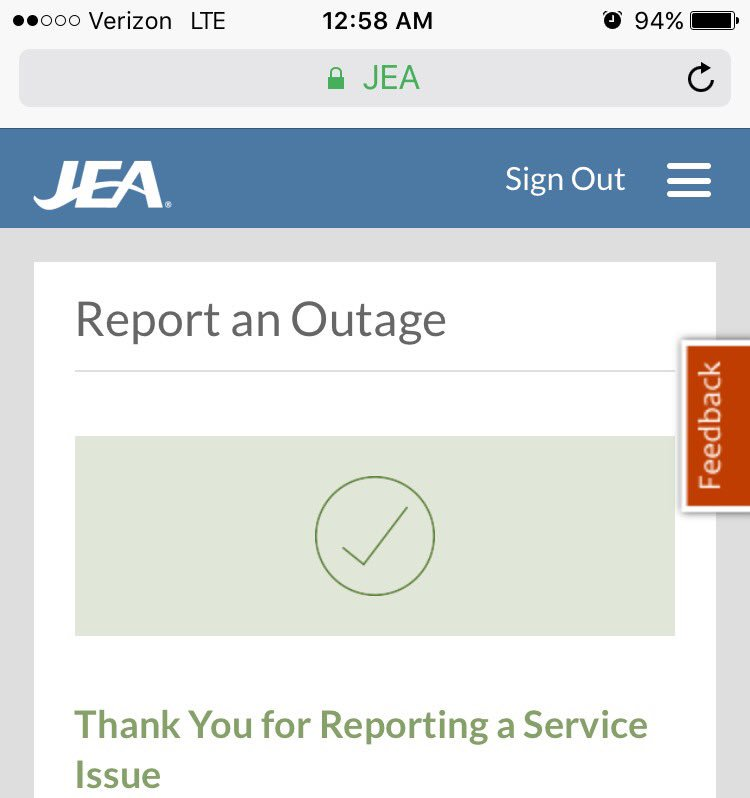 Power out in Jacksonville #hurricaneimra #jea https://t.co/oNSvKMR1VE
