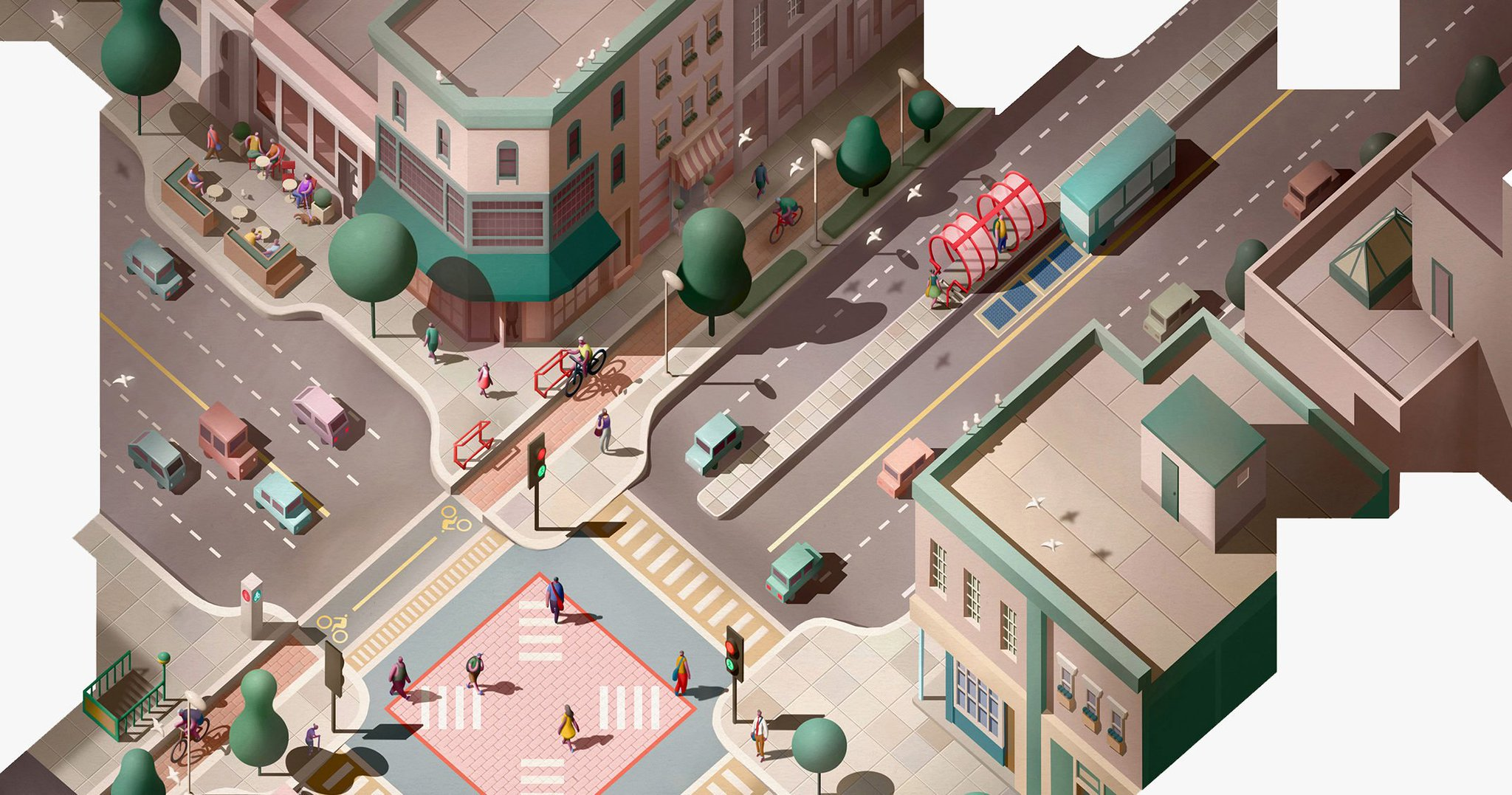 16 ways to design better intersections—and better cities: https://t.co/dGOji32TQ4 https://t.co/X8CkgAzC2a