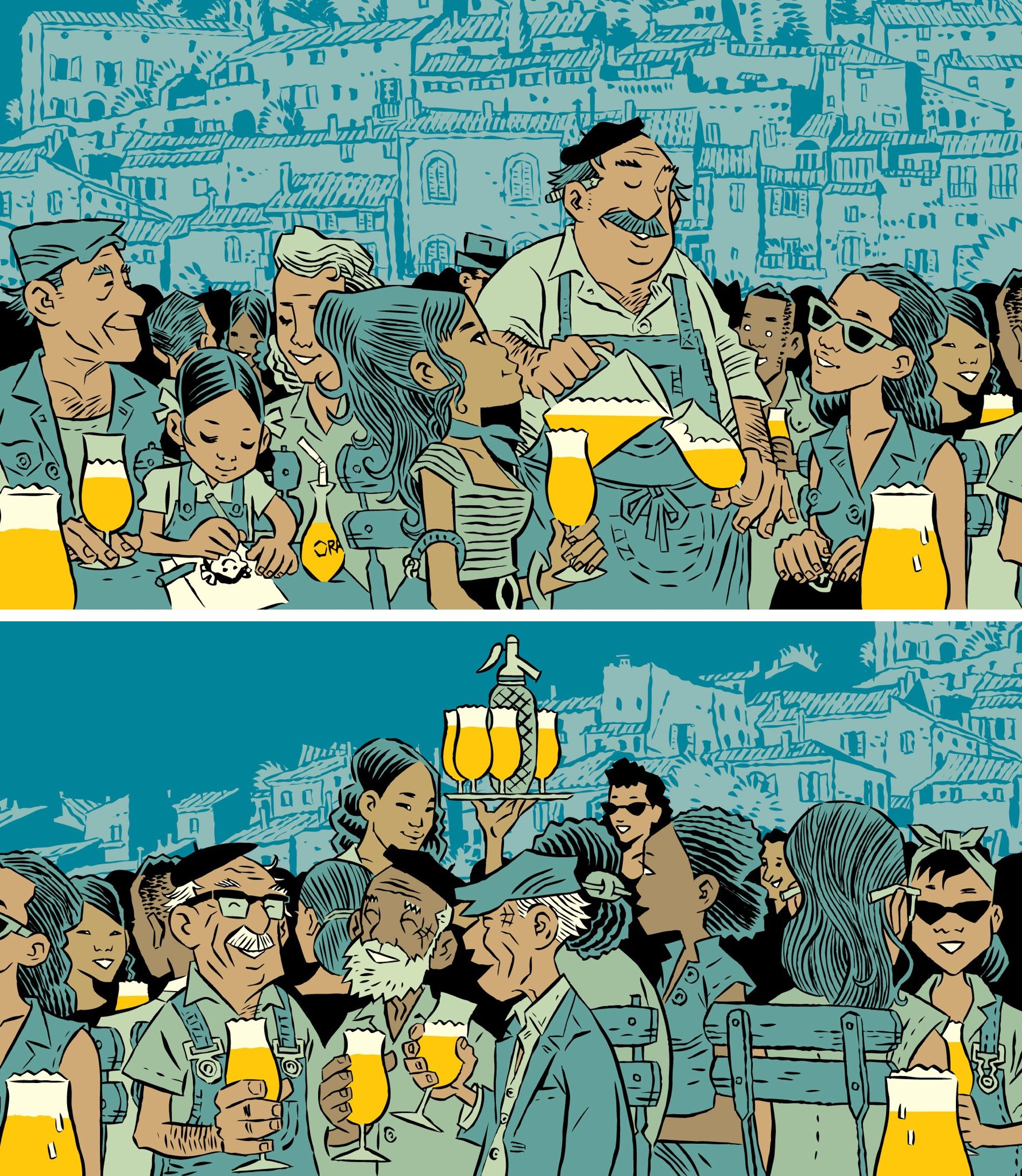 Characters for a new @burningskybeer bottle label. https://t.co/P0vicTbFTv
