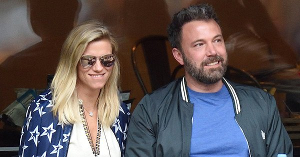 Ben Affleck and Lindsay Shookus approached the 14th day of the US Open this weekend: