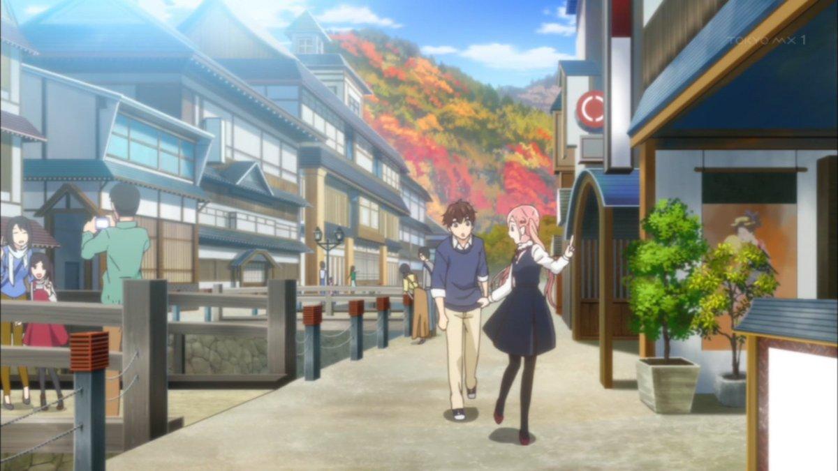 銀山温泉だしガーリッシュナンバーと繋がった #anime_koiuso