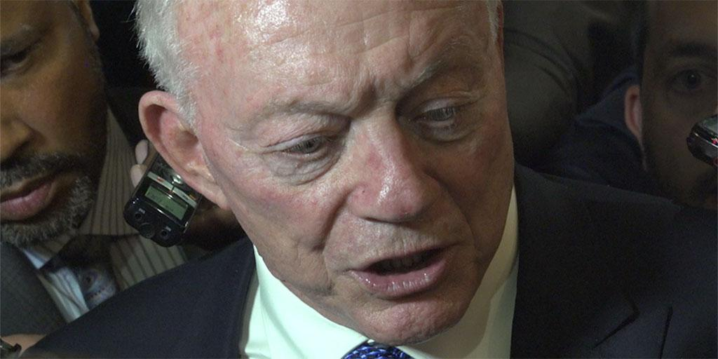 Jerry Jones gives his first impressions of the win over the Giants.  ��: https://t.co/EP0ZQMZxJn https://t.co/mtyTrMWDqe