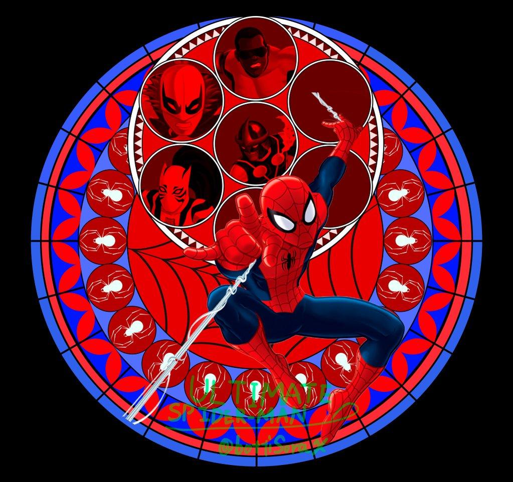 アルティメットスパイダーマンを素材にKINGDOM HEARTS風の画像作りました!!#spiderman #kingd