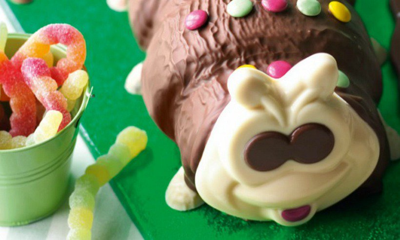Colin the Caterpillar is all ready for Halloween! See his transformation: