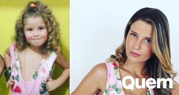 Debby Lagranha. Foto do site da Quem Acontece que mostra Debby Lagranha posta fotos fofas da filha e fãs apontam semelhança: Sua cara