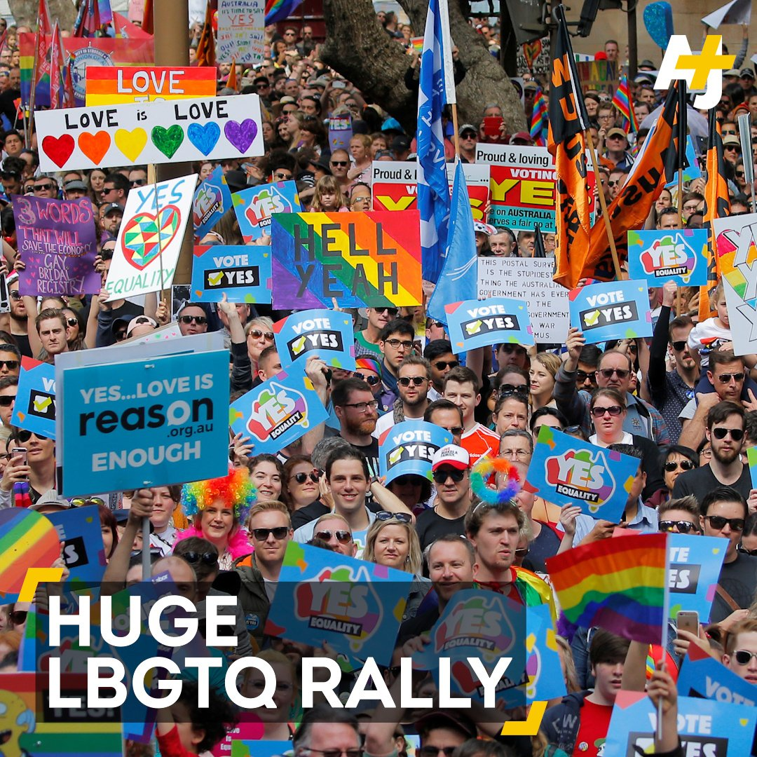 This is the biggest-ever LGBTQ rally in Australia. https://t.co/zvNAnjtac3