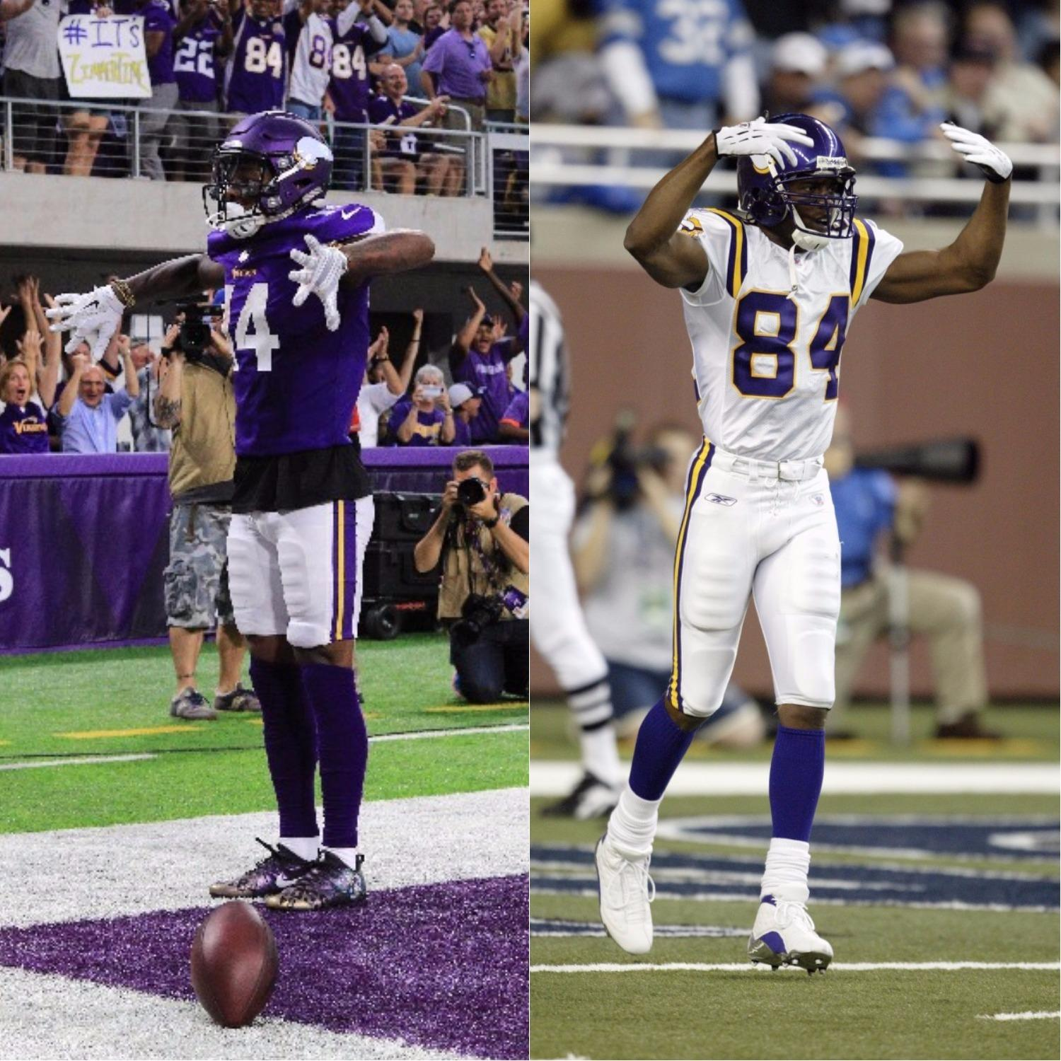 Stefon Diggs is the first Vikings WR with 2 TDs in the season opener since ... Randy Moss. https://t.co/GStwU3awQW