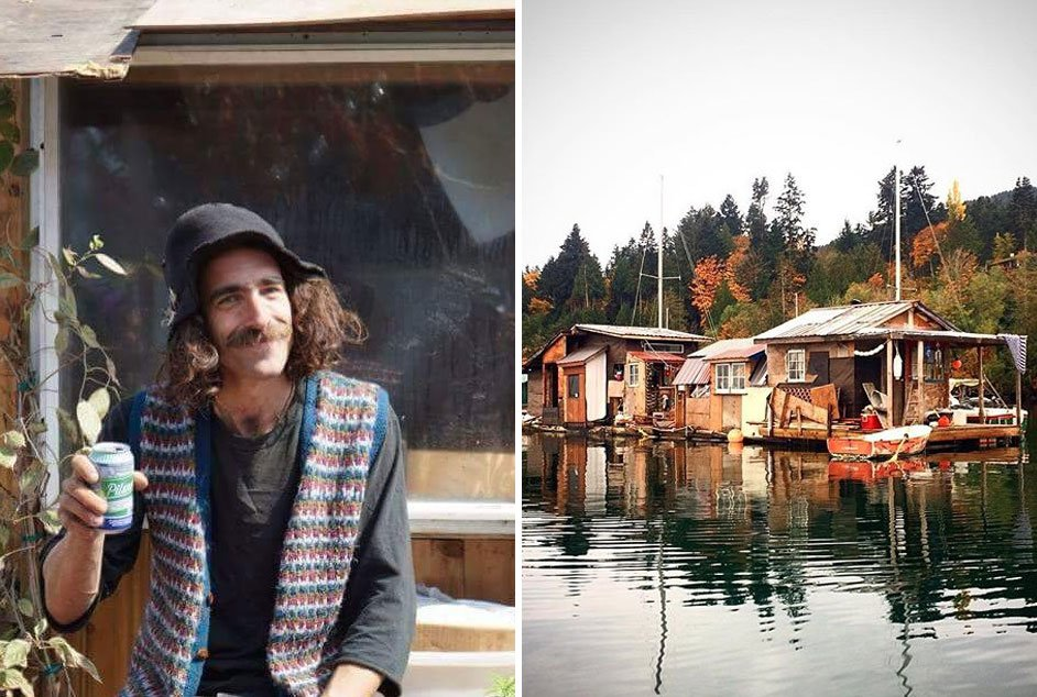 Look at these hippies living for free on a floating garbage house: https://t.co/zg6qSlj8Zy https://t.co/inOBCprsGs
