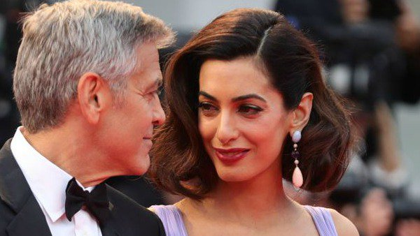 According to George Clooney, his twins Ella and Alexander have their mothers eyes: