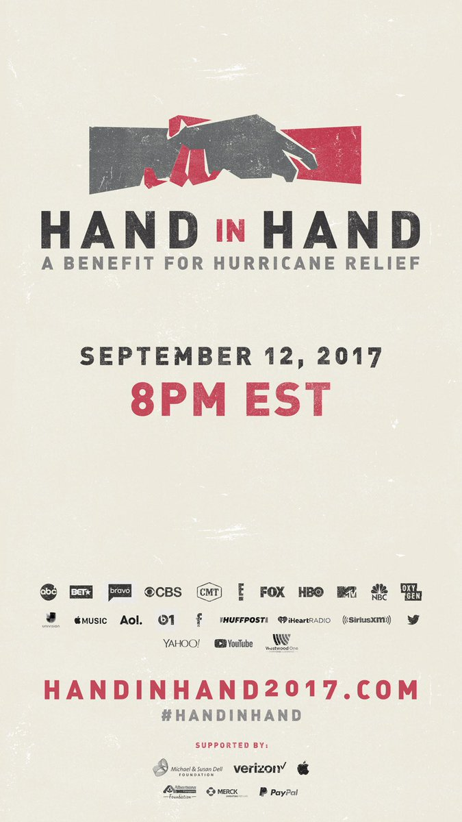 See you tomorrow. #HandInHand let's help. 8pm tomorrow