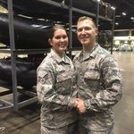 No bride's dress? No problem: Guard couple tie knot during Irma