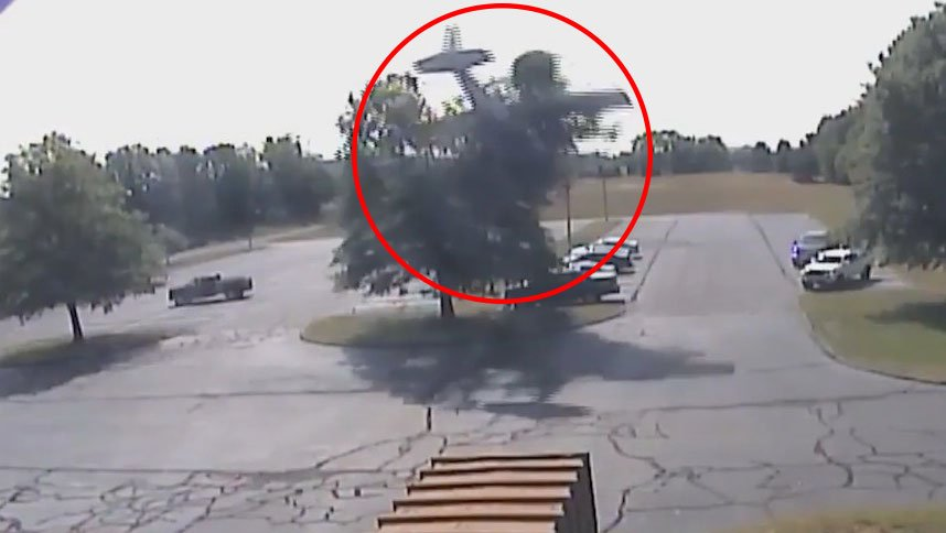 WATCH: Elderly pilot escapes serious injury after plane crashed into a tree