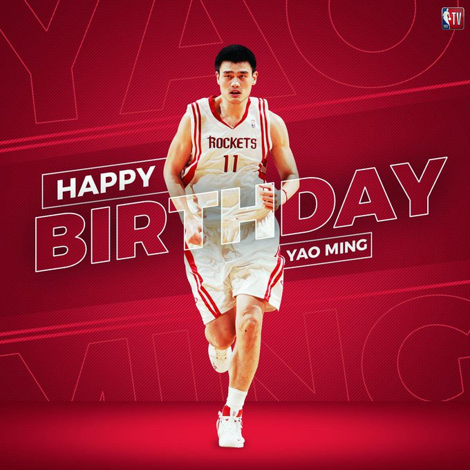Happy Birthday to 8x All-Star, HOF and legend, Yao Ming!