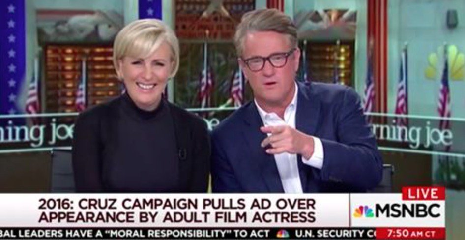 Morning Joe Points and Laughs At Ted Cruz After Porn Tweet https://t.co/6NL0ftrzsh https://t.co/8VvkHfOWkZ