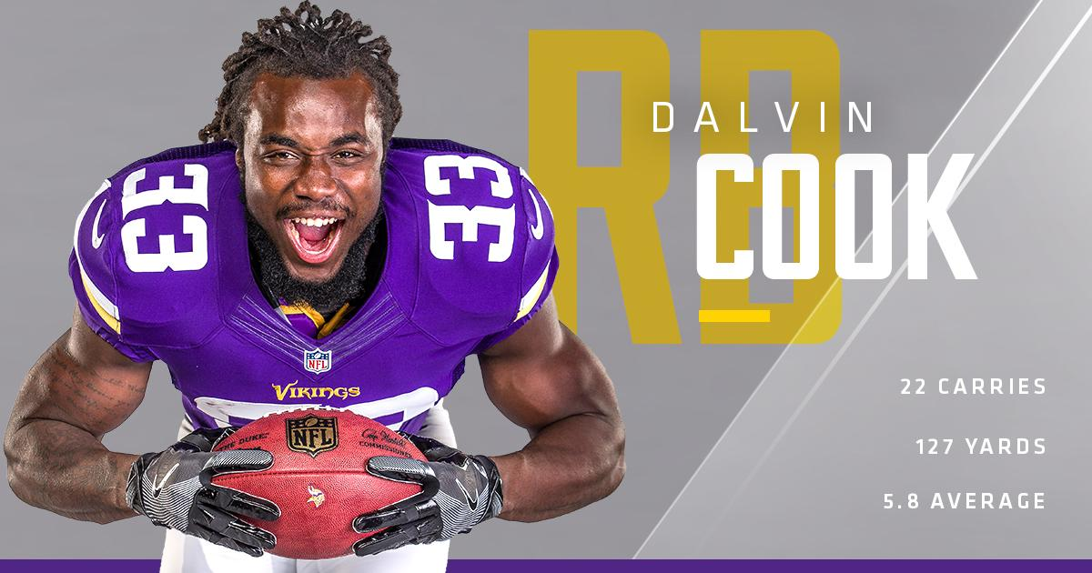 A record night for @dalvincook in his @NFL debut.   ��: https://t.co/P0QQwgmPOA https://t.co/tLWxXaemiv