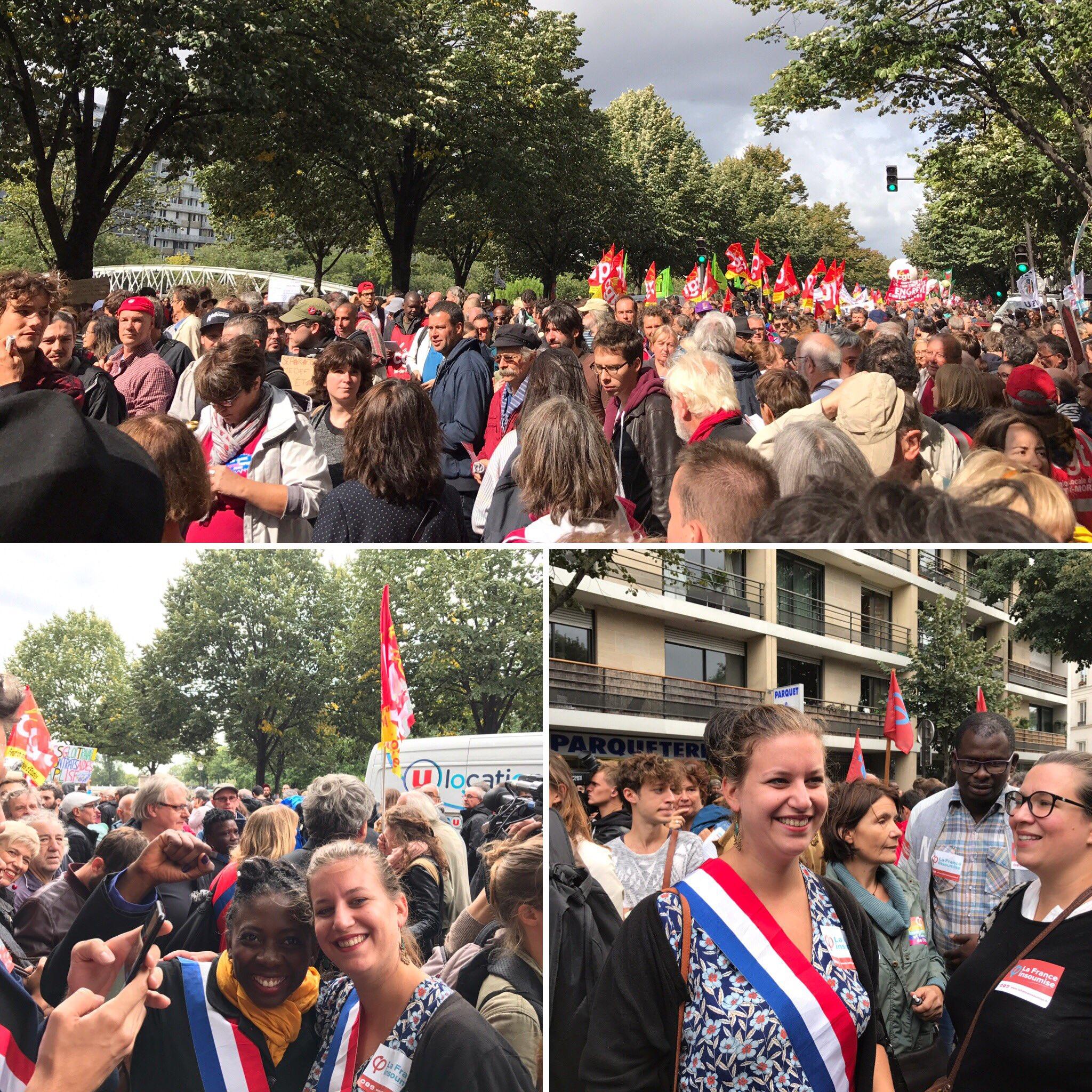 Des dizaines de milliers de personnes partout en France pour dire non aux ordonnances Macron ! #Greve12septembre https://t.co/Ob9jXKoZSG