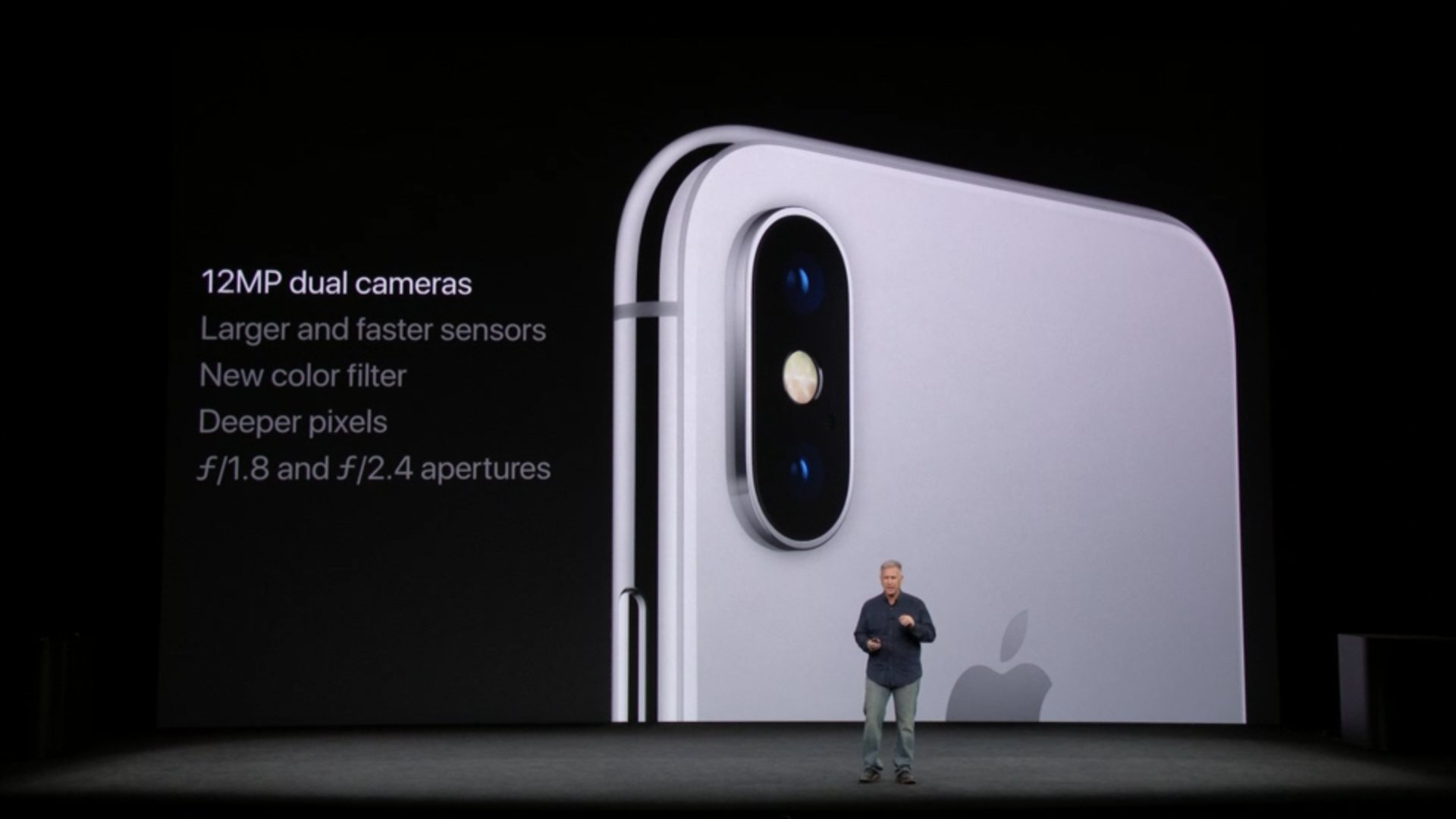Details on the new camera in the iPhone X. #AppleEvent https://t.co/FdTwebZcPj