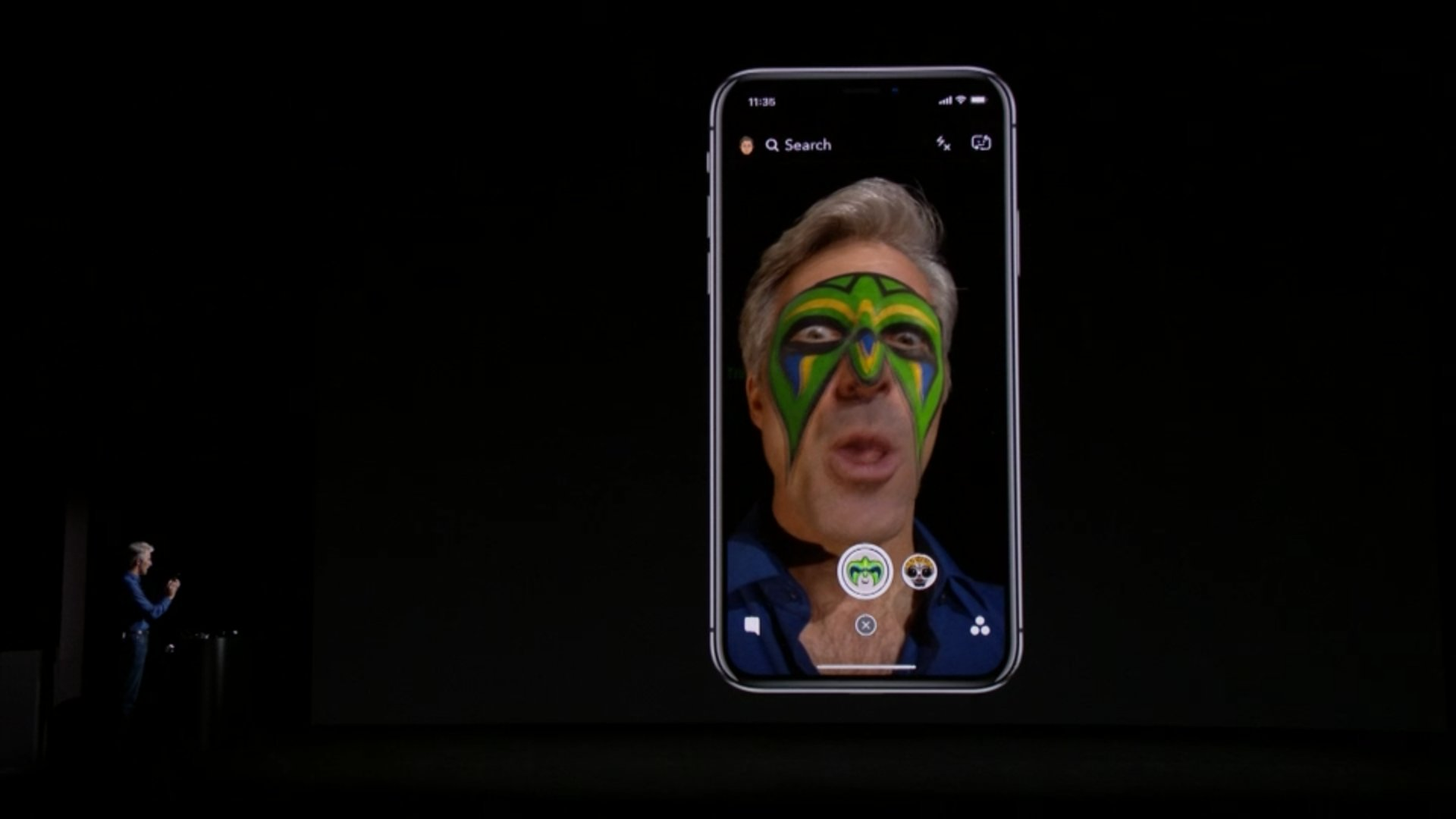 Apple has been working with @Snapchat to improve facial recognition within their app. #AppleEvent https://t.co/CgWBPfOl2h